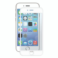 Gecko Bubble-Free Screen Protector for iPhone 8/7/6/6s- white trim