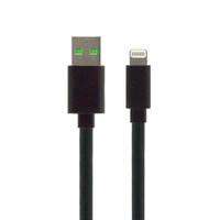 Gecko Lightning to USB Flat Cable 1m - Black