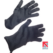 Polysafe® Black Aramid Knitted Glove with Nitrile Lining 35cm (FKTW8/B/NT/35)