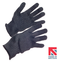 Polysafe® Black Aramid Knitted Glove with Dotted Palm 25cm (FKKL7/PD/KW)