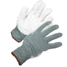 TEXHIDE™ Leather Palm Knitted Cut Resistant Glove