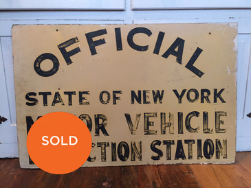 Hand-painted Sign, State of NY