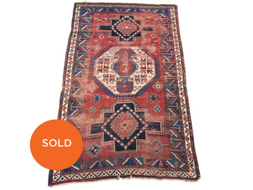 "Kazak Antique Rug, 7'10""x4'9"", circa 1880"