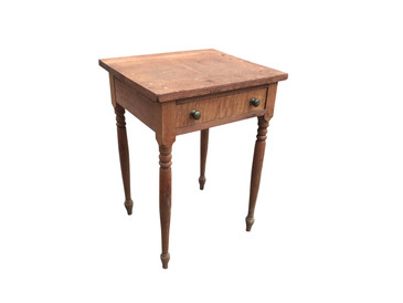 Wooden Single Drawer Stand, circa 1800s