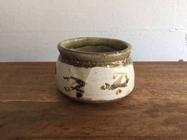 Vintage Studio Pottery, Small Planter with Brush Marks
