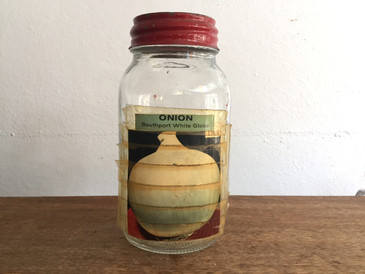 Original Seed Jar from Zettler Hardware, White Onion