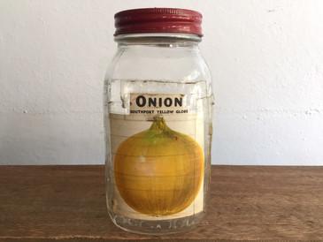 Original Seed Jar from Zettler Hardware,  Yellow Onion