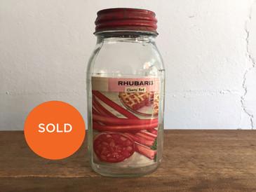 Original Seed Jar from Zettler Hardware Store, Rhubarb