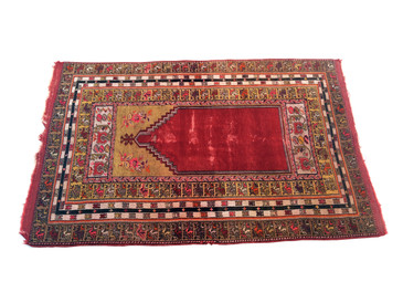 "Anatolian Prayer Rug, Vintage 6'1""x3'10"""