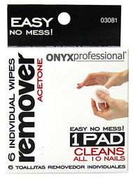 Onyx Acetone Nail Polish Remover Wipes 6 Pack