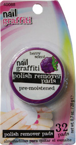 Nail Graffiti 32 Piece Berry Scented Nail Polish Remover Wipes