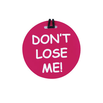"JetSet ""Don't Lose Me"" Luggage Tag"