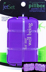 JetSet For My Well Being Pill Box