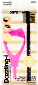 Add a Product - Onyx Professional Eyelash Comb and Brow Brush with Dual Sided Eye Guard