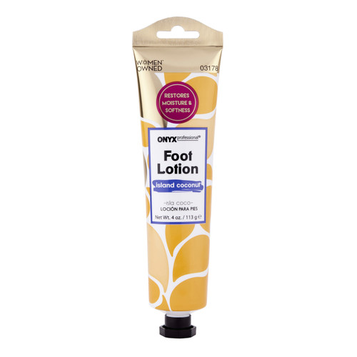 Onyx Professional Green Tea Extract Foot Lotion with Coconut Scent