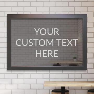 Create your own custom engraved bar mirror