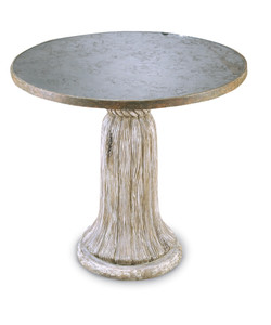 Tassel Table with Antique Mirror Top