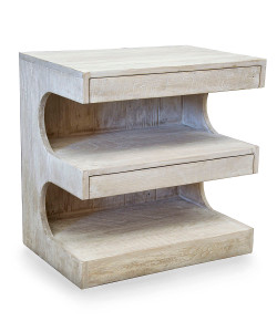 Radcliff Side Table with Gray Wash Wax Finish