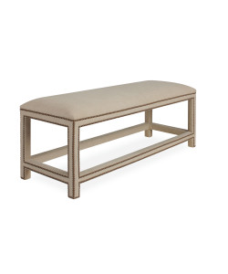 Harper Bench Ottoman in Patton Flax