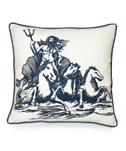 Poseidon Pillow, Indigo