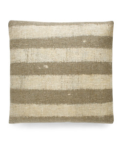 Loomstate Stripe Pillow, Natural