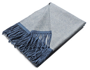 Lausanne Throw, Navy and White