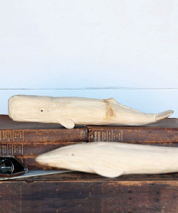 Carved Wood Whale, Sperm Whale