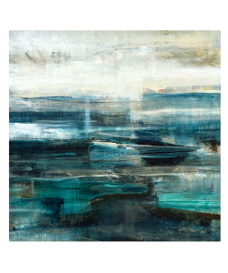 Cyan Unframed Giclee with Marble Glaze Finish