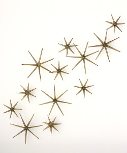 Etoile Brass Wall Décor, Set of 12