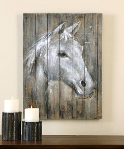 Dreamhorse Hand Painted Wall Art on Reclaimed Wood