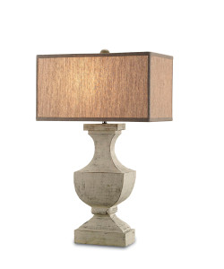 Greta Table Lamp Washed Buff
