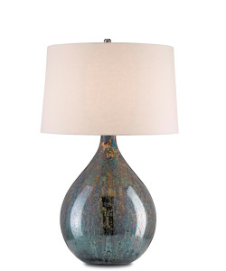 Merseyside Table Lamp - Blue Mercury & Nickel