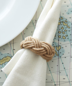 """""""Roped In"""" Nautical Rope Napkin Ring"""
