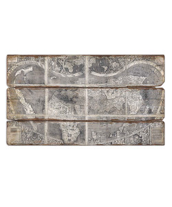 Map Of The City Frameless Oil Reproduction