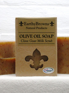 Clove Goat Milk Scrub Bar Soap