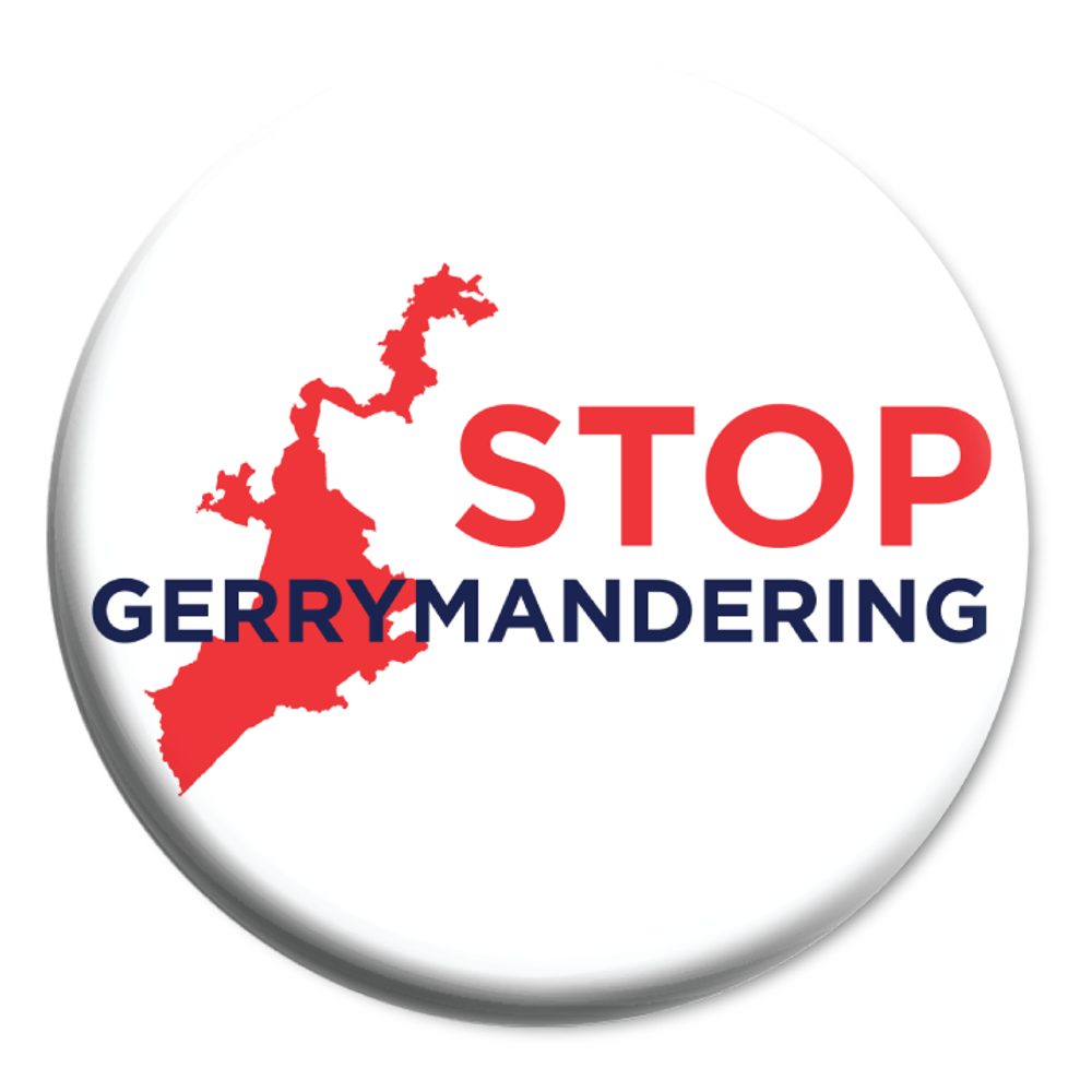 "Stop Gerrymandering (2.25"" Mylar Button -- Pack Of Two!)"