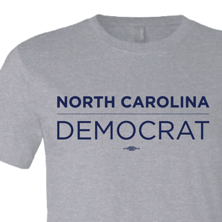 North Carolina Democrat (on Athletic Heather Tee)