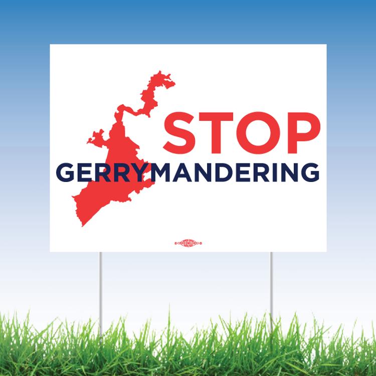 "Stop Gerrymandering (24"" x 18"" Coroplast Yard Sign)"
