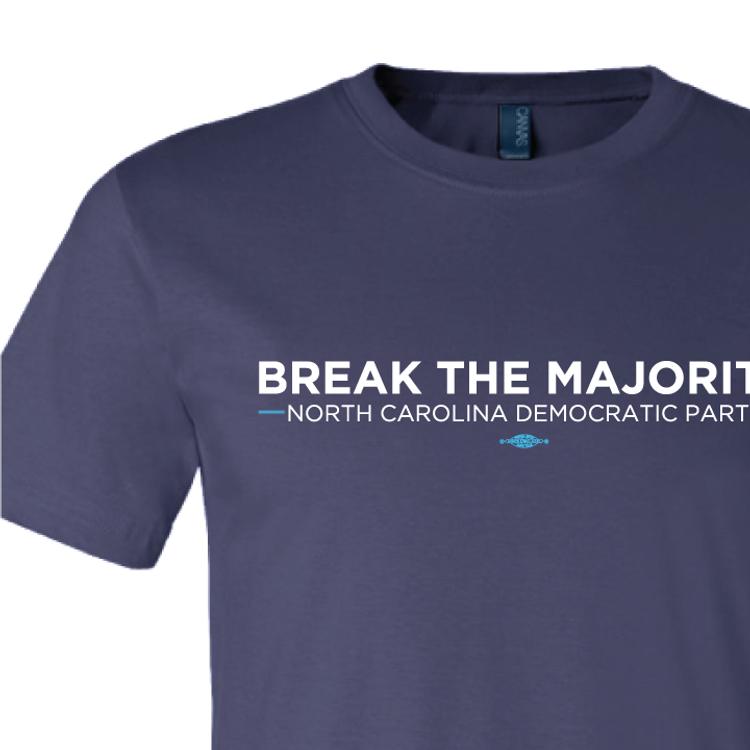 Break The Majority (on Navy Tee)