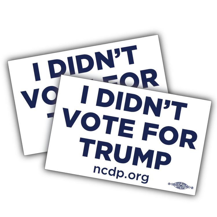 "I Didn't Vote For Trump (5"" x 3"" Vinyl Sticker -- Pack of Two!)"