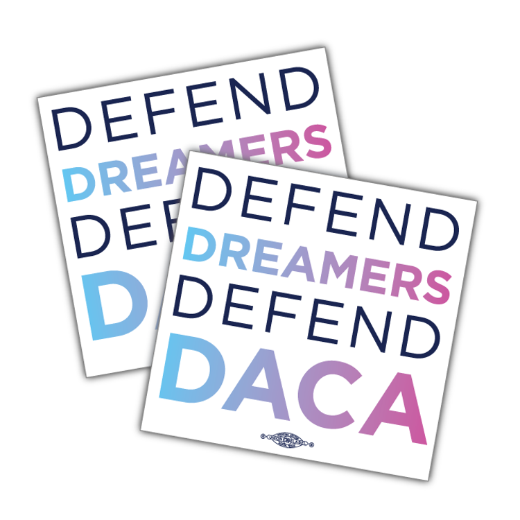 "Stand With Dreamers - Square (4.5"" x 4.5"" Vinyl Sticker -- Pack of Two!)"