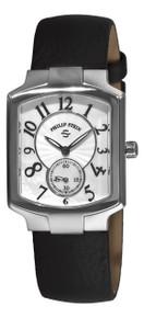 Philip Stein Women's 'Signature Classic Tank' Black Strap Watch