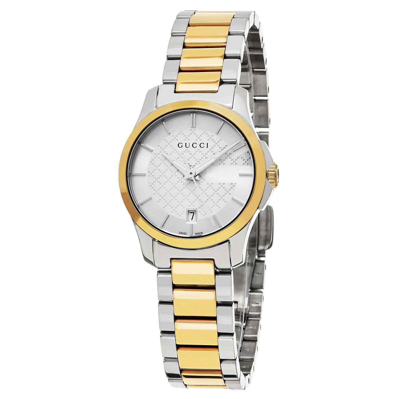 f3d2546c4ea ... Gucci Women s YA126531 Timeless Two Tone Stainless Steel Swiss Quartz  Watch. Image 1
