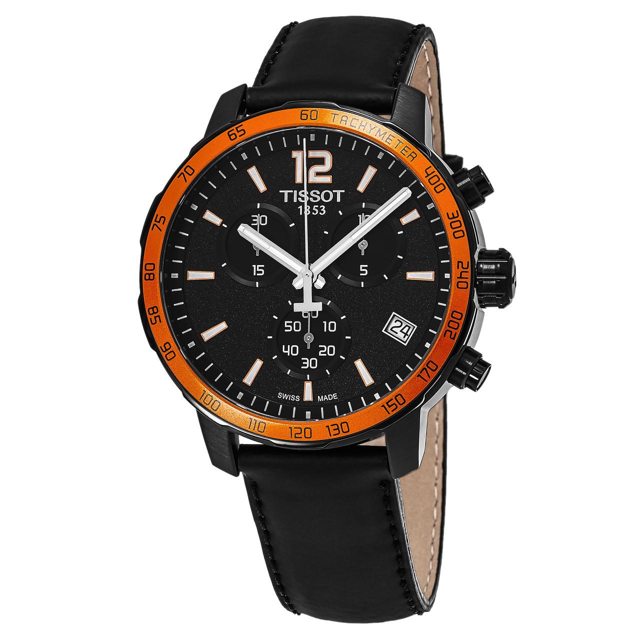 bdaad7bf4f4 Tissot Men's T095.417.36.057.01 Quickster Chronograph Swiss Quartz Watch -  Sigmatime
