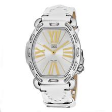 Fendi Women's F84236H.PS18R04 'Selleria' Silver Dial White Leather Strap Swiss Quartz Watch