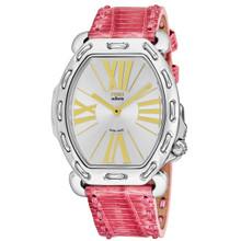 Fendi Women's F84236H.TSN1807 'Selleria' Silver Dial Pink Leather Strap Swiss Quartz Watch