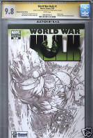 WORLD WAR HULK 1 DIAMOND VARIANT CGC 9.8 DAVID FINCH SS