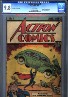 ACTION COMICS #1 FIRST APPEARANCE OF SUPERMAN CGC 9.8