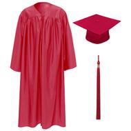 Red Kinder Cap, Gown & Tassel