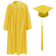 Gold Kinder Cap, Gown & Tassel